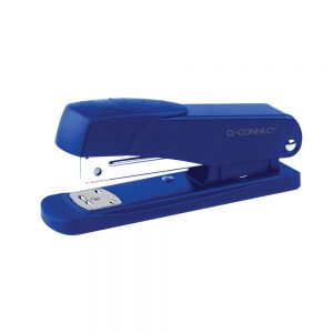 Q-Connect Half Strip Metal Stapler Blue (Staples up to 20 sheets of 80gsm paper)