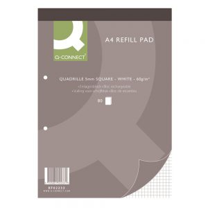 Q-Connect Quadrille Ruled Headbound Refill Pad 160 Pages A4