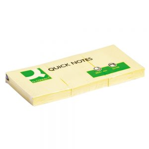 Q-Connect Quick Notes 38 x 51mm Yellow (Pack of 12)
