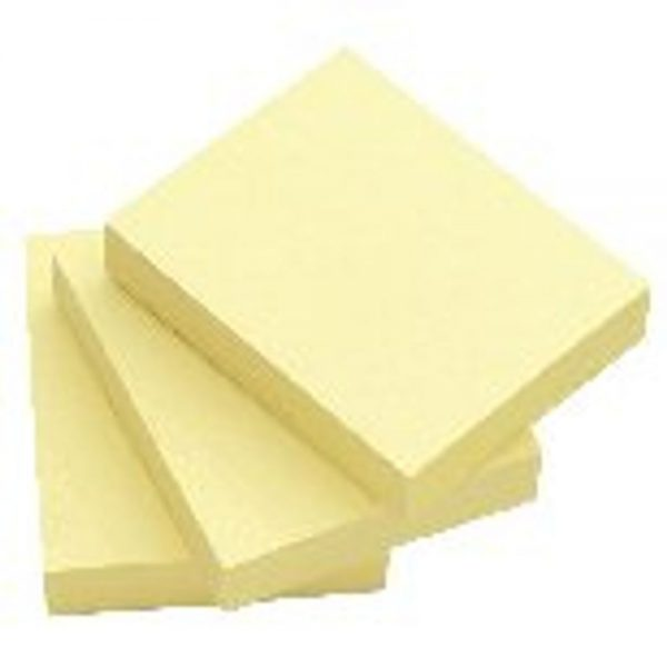 Q-Connect Quick Notes 51 x 76mm Yellow (Pack of 12)