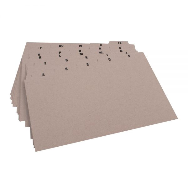 Q-Connect Guide Card 203x127mm A-Z Buff (25 Pack)
