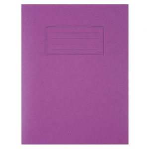 Silvine Exercise Book 229 x 178mm Ruled with Margin Purple (10 Pack)
