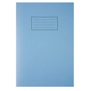 Silvine Exercise Book Ruled with Margin A4 Blue