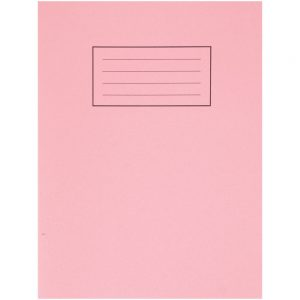 Silvine Exercise Book 229 x 178mm Plain Pink