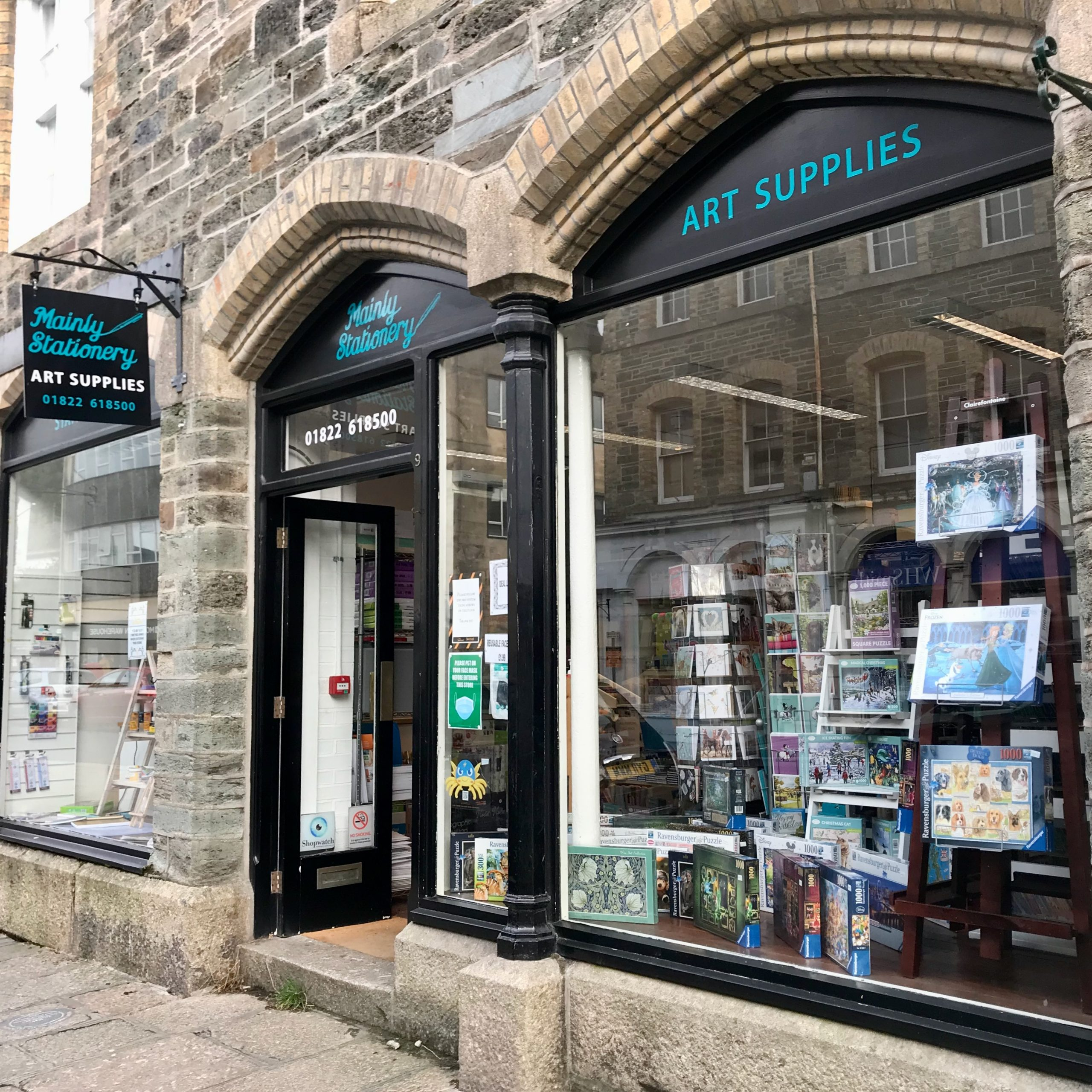Shop front at Mainly Stationery